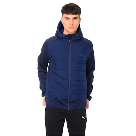 Hybrid Men's Padded Jacket, Peacoat, small-IND
