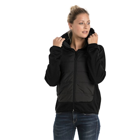 Hybrid Women's Padded Jacket, Puma Black, small-IND