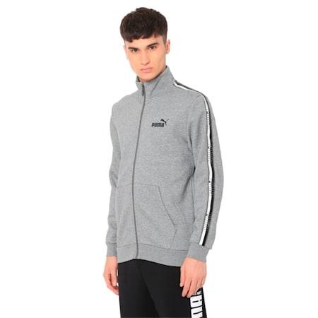 Tape Men's Track Jacket, Medium Gray Heather, small-IND