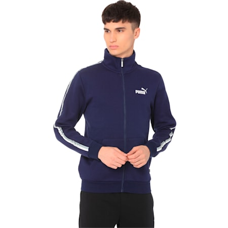 Tape Men's Track Jacket, Peacoat, small-IND