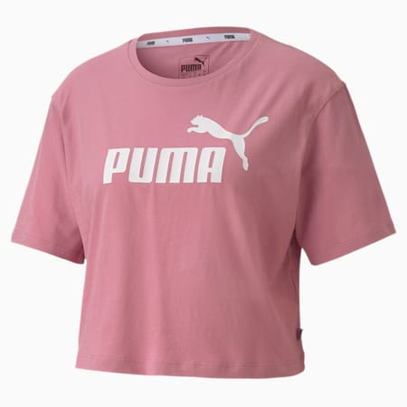 Women's Cropped Logo T-Shirt, Foxglove, small-GBR