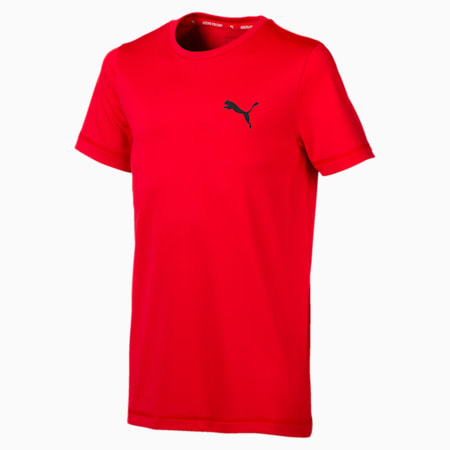 Active Boys' Tee, High Risk Red, small-SEA