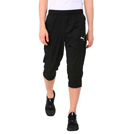 Active Woven 3/4 Men's Sweatpants, Puma Black, small-IND