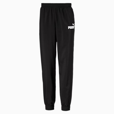 Essentials Woven Boys' Track Pants, Puma Black, small-SEA