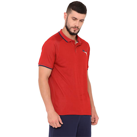 Active Hero Polo, Red Dahlia, small-IND