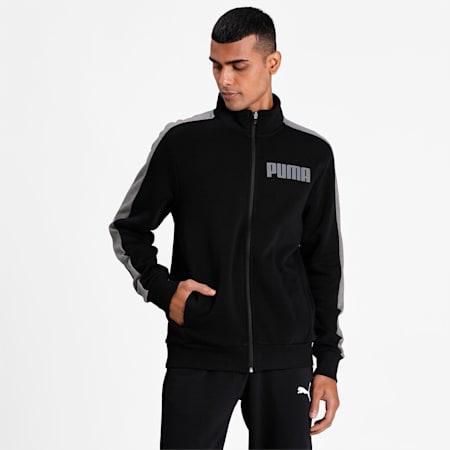 Contrast Track Jacket FL M, Cotton Black, small-IND