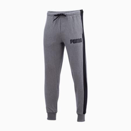 Contrast Men's Sweatpants, Medium Gray Heather, small-IND