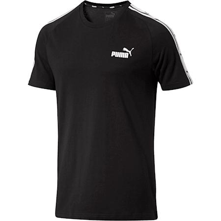 Men's Heritage Tape T-Shirt, Cotton Black, small