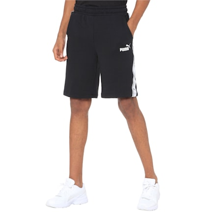 Men's Heritage Tape Shorts, Cotton Black-white, small-IND
