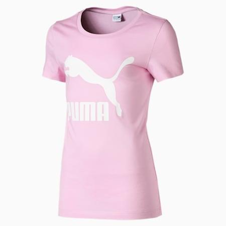 Classics Short Sleeve Girls' Logo Tee, Pale Pink, small-SEA