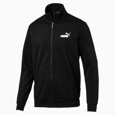 Essentials Fleece Men's Track Jacket, Puma Black, small-IND