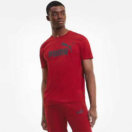 Essentials T-shirt voor heren, Red Dahlia, small