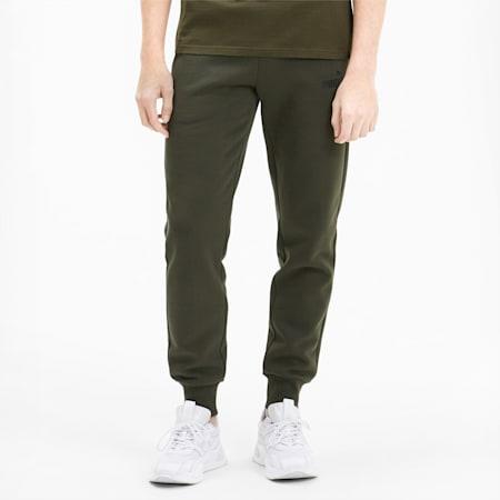 Essentials Fleece Men's Slim Fit Sweatpants, Forest Night, small-IND