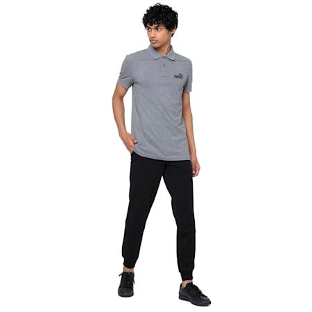 Essentials Pique Men's Polo Shirt, Medium Gray Heather, small-IND