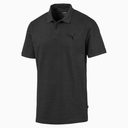 Essentials Pique Men's Polo Shirt, Dark Gray Heather, small-IND