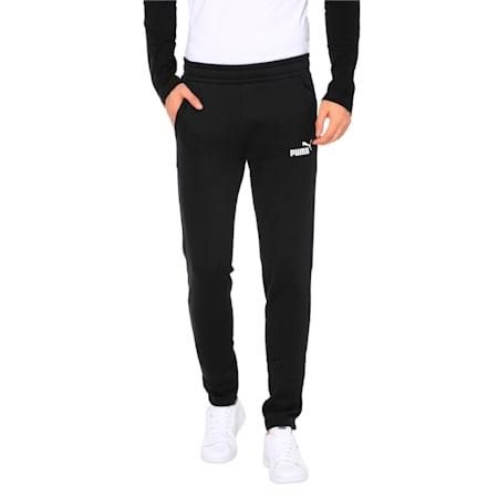 Essentials Men's Pants, Cotton Black, small-IND