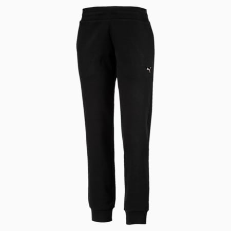 ATHLETIC Full-Length Pants, Cotton Black-MetalicAsh, small