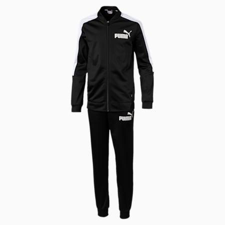 Baseball Collar Boys' Track Suit, Puma Black, small