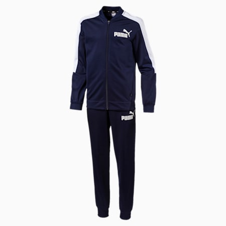 Baseball Collar Boys' Track Suit, Peacoat, small