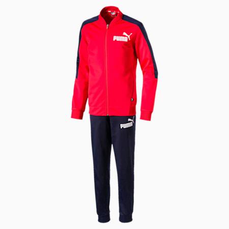 Baseball Collar Jungen Trainingsanzug, High Risk Red, small