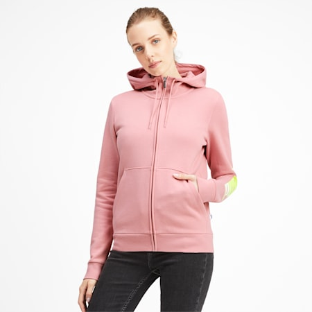 Essentials Women's Hooded Fleece Jacket, Bridal Rose, small