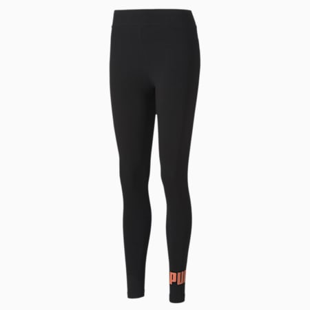 Essentials Women's Leggings, Puma Black-Nrgy Peach, small-SEA