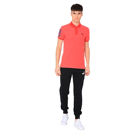 Contrast Heather Polo 48, Ribbon Red Heather, small-IND