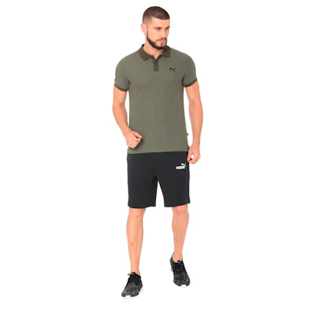 Contrast Heather Polo 48, Forest Night Heather, small-IND