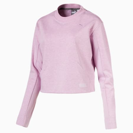 FUSION クロップド クルースウェット, Winsome Orchid Heather, small-JPN