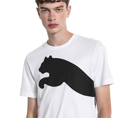 Oversize Logo Men's Tee, Puma White, small-IND