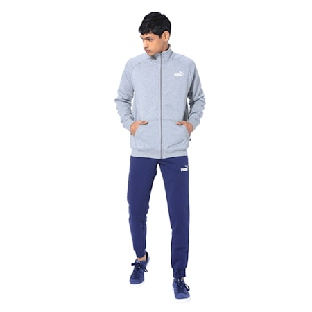 Clean CL Men's Sweat Suit, Medium Gray Heather, small-IND