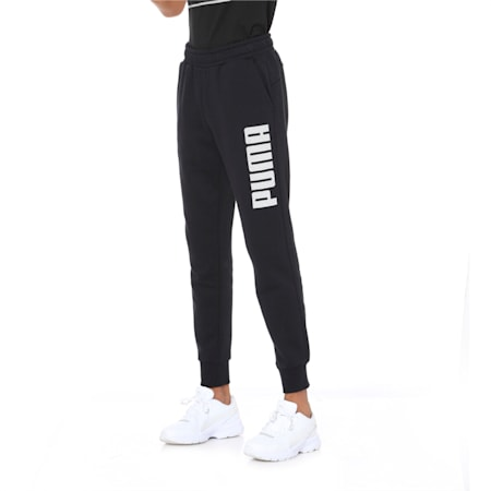 Men's Graphic Sweat Pants, Cotton Black, small-IND
