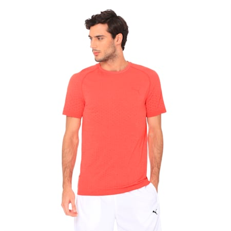 Essentials Evoknit Men's Tee, High Risk Red, small-IND