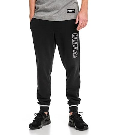 Athletic Men's Pants, Cotton Black, small-IND