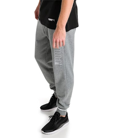 Athletic Men's Pants, Medium Gray Heather, small-IND