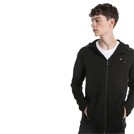 Evostripe Move Men's Hooded Jacket, Puma Black, small-IND