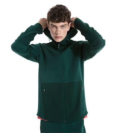 Evostripe Move Hooded Jacket, Ponderosa Pine, small