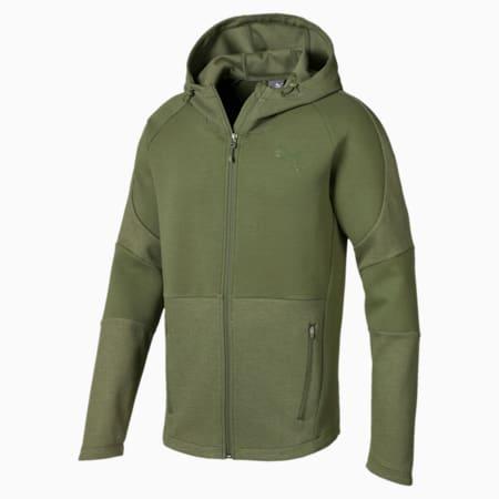 Evostripe Move Men's Hooded Jacket, Olivine, small