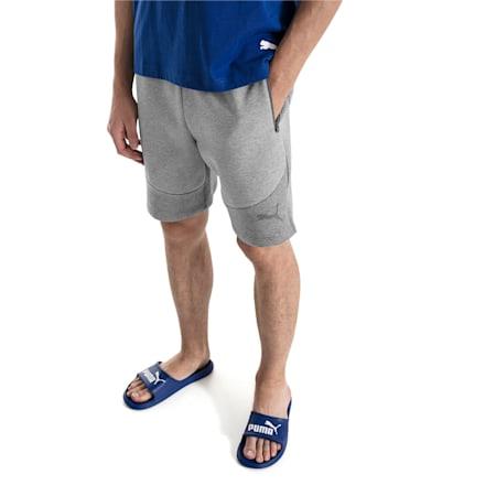 "Evostripe Move 8"" Men's Shorts, Medium Gray Heather, small-IND"