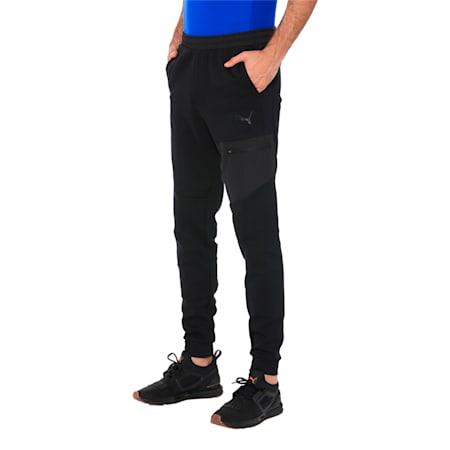 Evostripe Lite Men's Sweatpants, Puma Black, small-IND