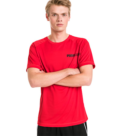 Active Tec Sports Men's Tee, High Risk Red, small-IND