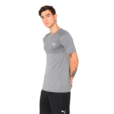 Tec Sports evoKNIT Men's Tee, Medium Gray Heather, small-IND