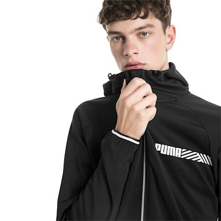 Active Tec Sports Hooded Men's Jacket, Puma Black, small-SEA
