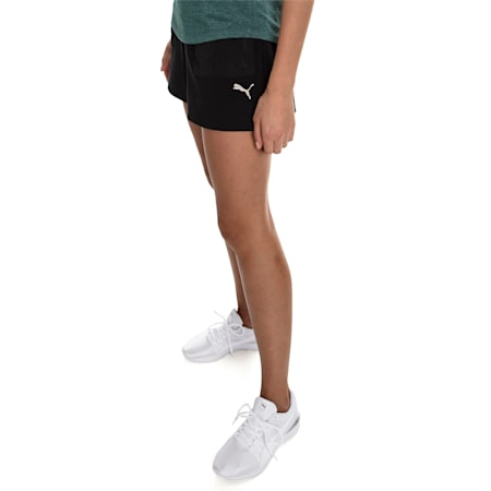 Evostripe Lite Women's Shorts, Cotton Black, small
