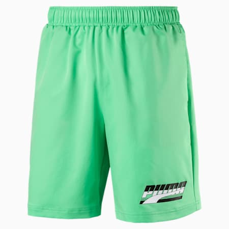 "Rebel Woven 8"" Men's Shorts, Irish Green, small-IND"