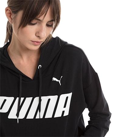 Modern Sports Women's Hoodie, Cotton Black-White, small-GBR
