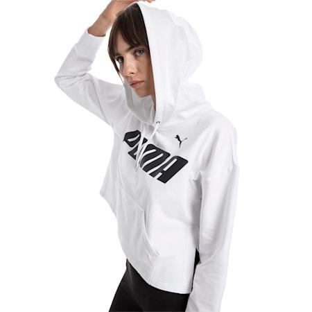 Modern Sports hoodie voor dames, Puma White, small