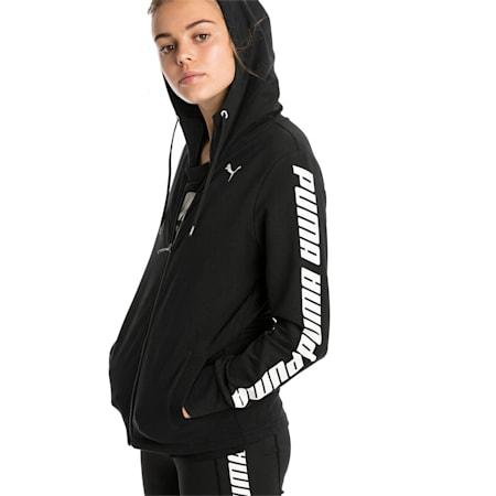 Modern Sports Women's Hooded Jacket, Cotton Black, small-SEA