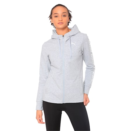 Modern Sports Hooded Jacket, Light Gray Heather, small-IND