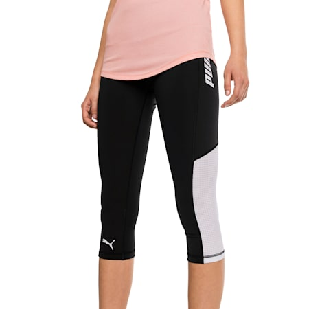 Modern Sports Women's 3/4 Leggings, Puma Black-white, small-SEA